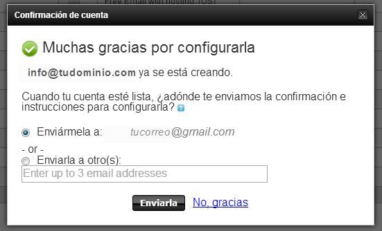 crear correo electrónico
