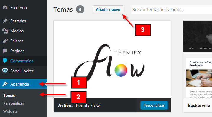 temas o plantillas wordpress
