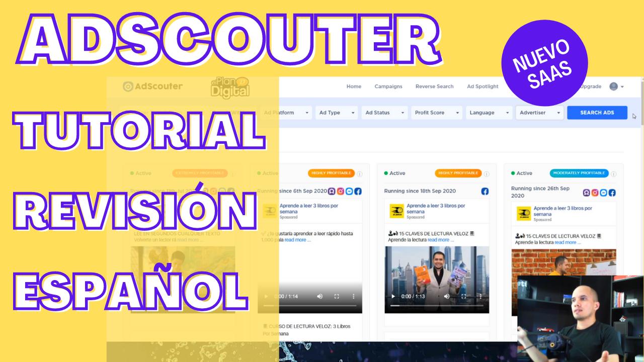 adscouter tutorial revisión español